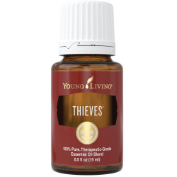 Use Thieves to help alleviate symptoms of and assist with: *Viruses *Household Dirt and Grime *Colds *Cold Sores *Cuts *Bacteria *Poison Ivy *Flu *Tooth Aches *Infection
